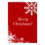 Winter Snowflakes Merry Christmas Card