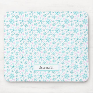 Winter Snowflakes Mouse Pad