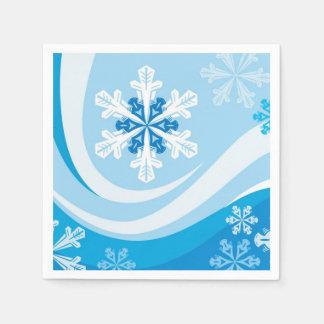 Winter Snowflakes Paper Napkins