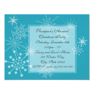 Winter Snowflakes/ Party Invitation