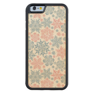 Winter Snowflakes Pattern Carved® Maple iPhone 6 Bumper Case