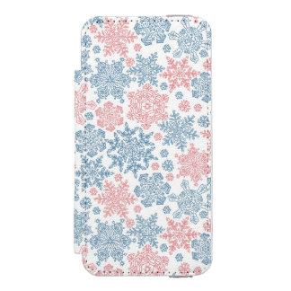 Winter Snowflakes Pattern Incipio Watson™ iPhone 5 Wallet Case