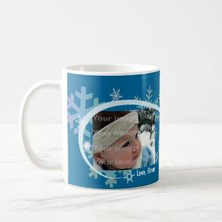 Winter Snowflakes Photo Mug