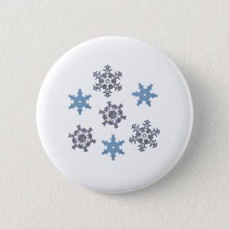 Winter snowflakes pinback button