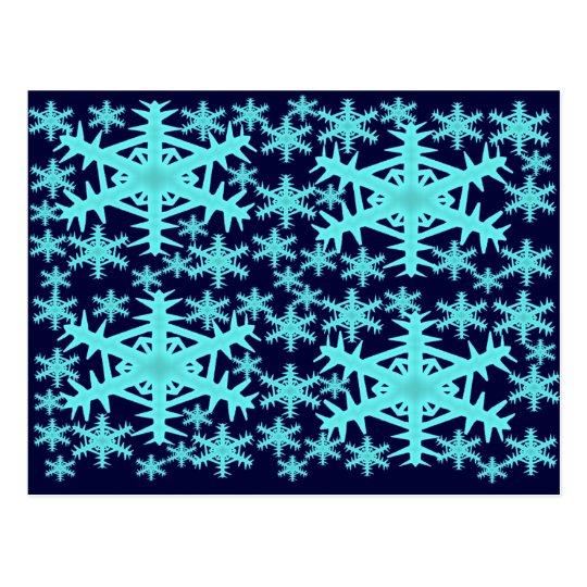 Winter Snowflakes Postcard