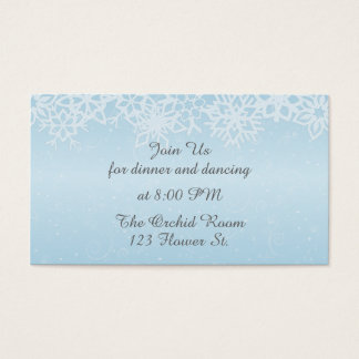 Winter Snowflakes Reception Cards