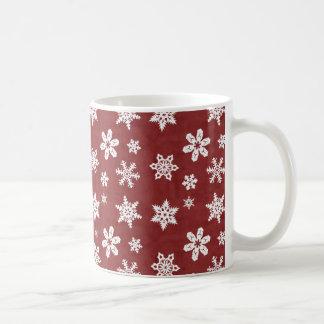 Winter Snowflakes - Red Coffee Mug