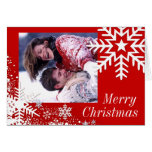 Winter Snowflakes (red) Photo Greeting Card