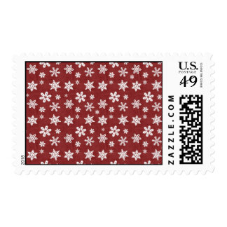 Winter Snowflakes - Red Stamp