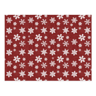 Winter Snowflakes - Red Postcard
