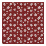 Winter Snowflakes - Red Poster