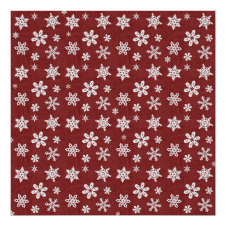 Winter Snowflakes - Red Print