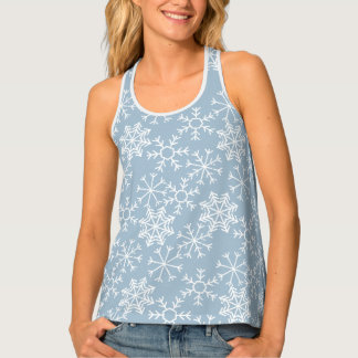 Winter SNOWFLAKES seamless pattern + your ideas Tank Top