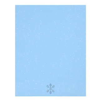 Winter Snowflakes Seasonal Christmas Letterheads Customized Letterhead