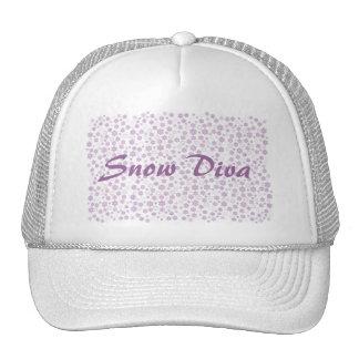Winter Snowflakes Snow Diva Trucker Hat