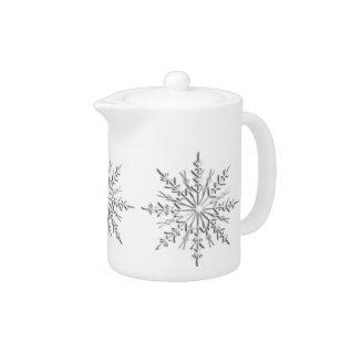 Winter Snowflakes Teapot at Zazzle
