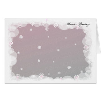 Winter Snowflakes. Template Greeting Card