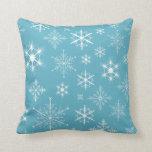 Winter Snowflakes Throw Pillows
