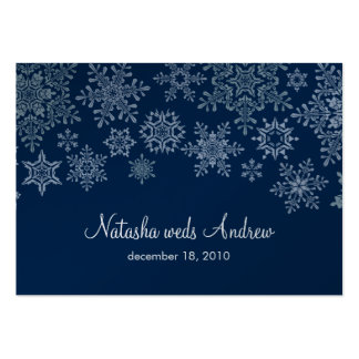 Winter Snowflakes Wedding Directions Enclosure Business Cards