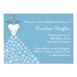 Winter Snowflakes Wedding Dress Bridal Shower Invite