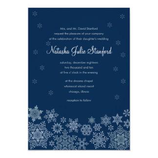 Winter Snowflakes Wedding Invitation 5 x 7 Card