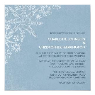 Winter Snowflakes Wedding Invitations -V.2
