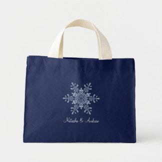 Winter Snowflakes Wedding Keepsake Tote Bag