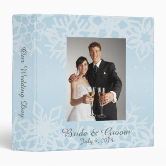 Winter Snowflakes Wedding Photo Album 3 Ring Binder