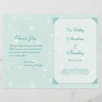Winter Snowflakes Wedding Program