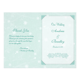 Winter Snowflakes Wedding Program