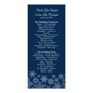 Winter Snowflakes Wedding Program Photo Keepsake Rack Card Template