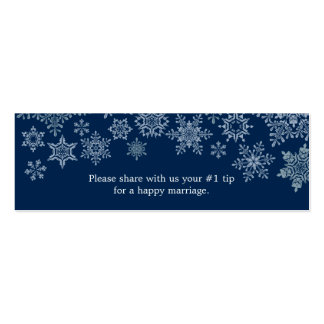 Winter Snowflakes Wedding Questionnaire Double-Sided Mini Business Cards (Pack Of 20)