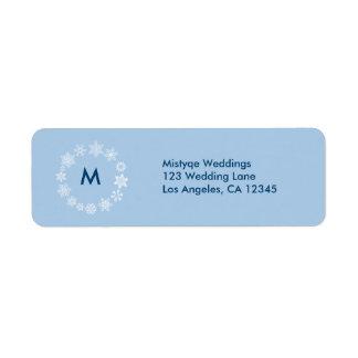 Winter Snowflakes Wedding Return Address Label