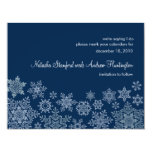 Winter Snowflakes Wedding Save the Date Card Invite