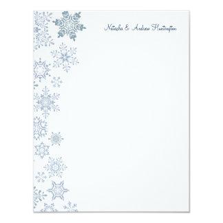 Winter Snowflakes Wedding Thank You Card