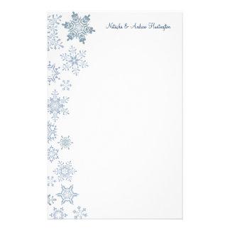 Winter Snowflakes Wedding Thank You Letterhead Stationery