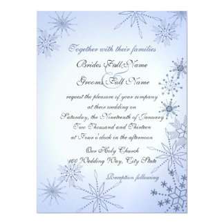 Winter Snowflakes/ Winter Ice Blue Card