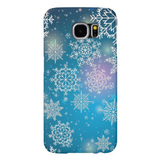Winter Snowing Flakes Christmas Samsung Galaxy S6 Case