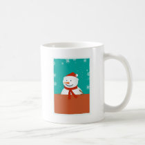 Winter Snowman Background Coffee Mug