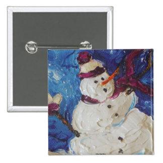 Winter Snowman Pins