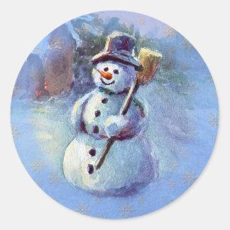 WINTER SNOWMAN by SHARON SHARPE Stickers