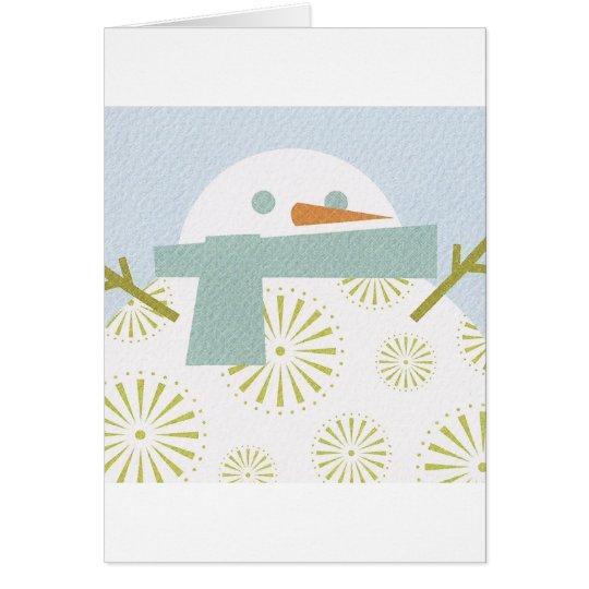 Winter Snowman Card