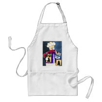 Winter Snowman Chef Cook Adult Apron