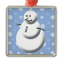 Winter Snowman Cute Christmas Ornament