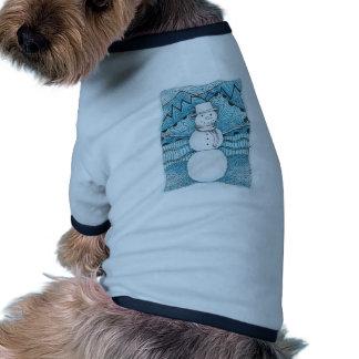 Winter Snowman Drawing T-Shirt