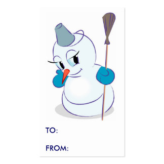 Winter Snowman Gift Tags Business Cards