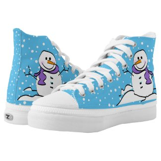 Winter Snowman High-Top Sneakers