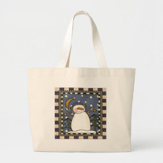 Winter Snowman Jumbo Tote Bag