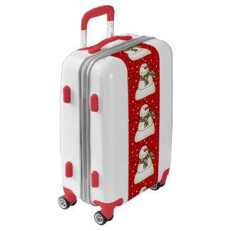 Winter Snowman Luggage