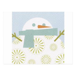 Winter Snowman Postcards